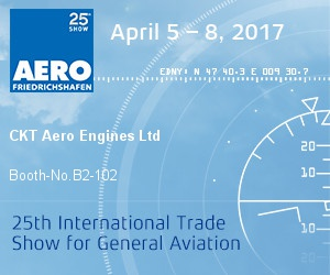 CKT Aero Engines to attend Aero 2017, Friedrichshafen